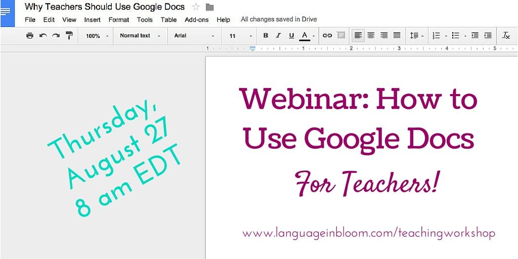 How Teachers Can Use Google Docs