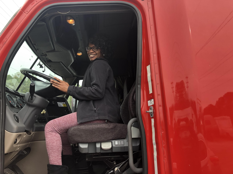 Wife in truck