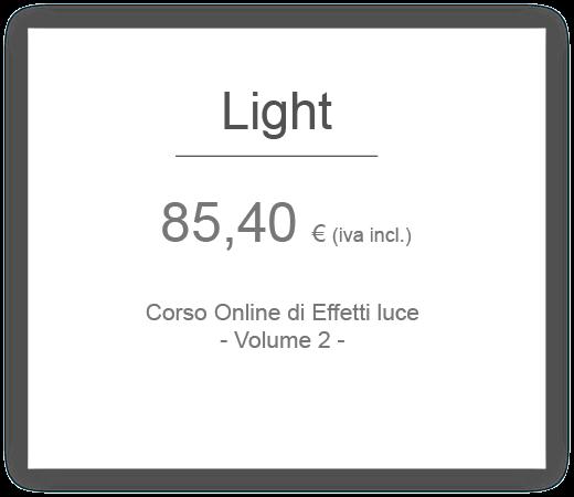 prezzo corso online di effetti luce hair academy