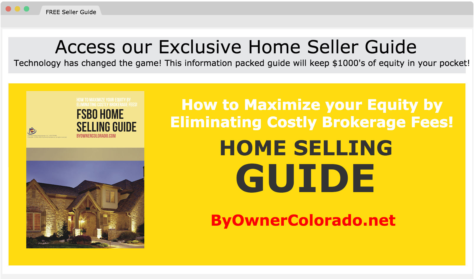 FSBO Home Seller Guide