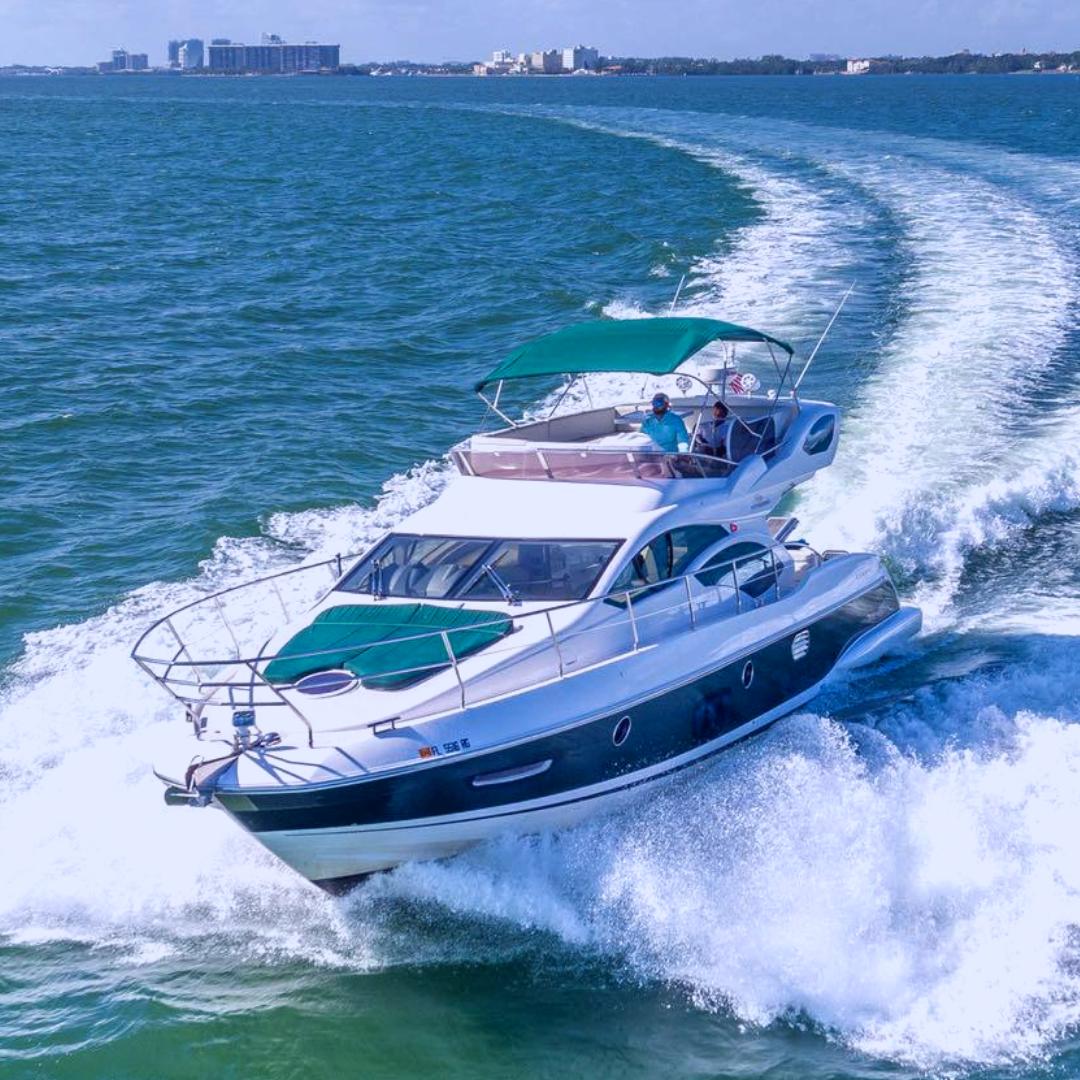 49' Azimut yacht charter party boat miami