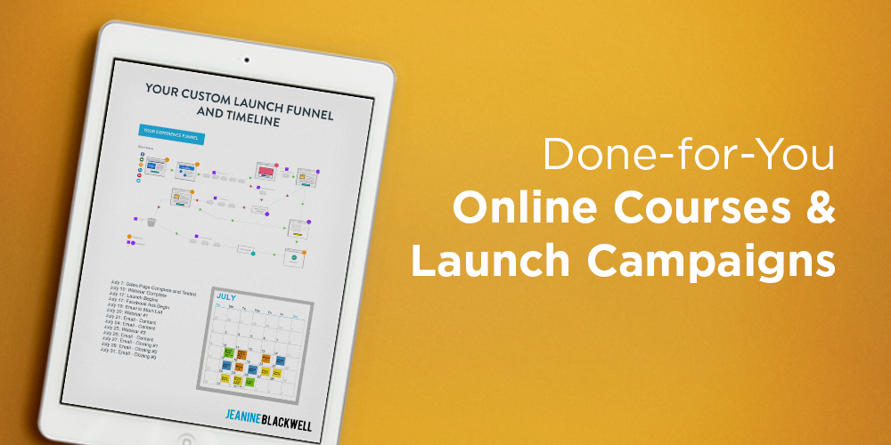Done for You Funnels and Launch Campaigns