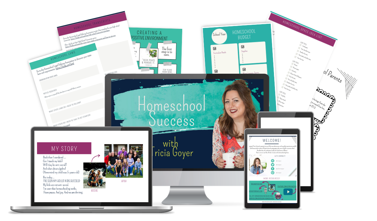 What's included in Tricia Goyer's Homeschool Success e-course