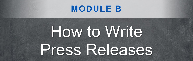 PR writing course: Module A