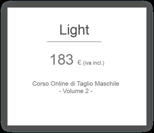 prezzo pacchetto light corso online per acconciatori di taglio maschile hair academy