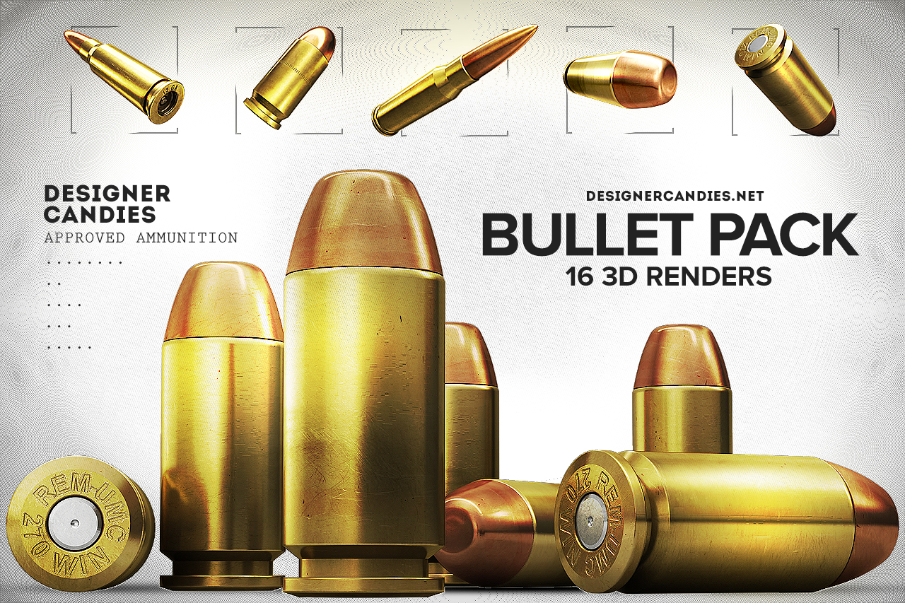 The 3D Bullet Renders Pack