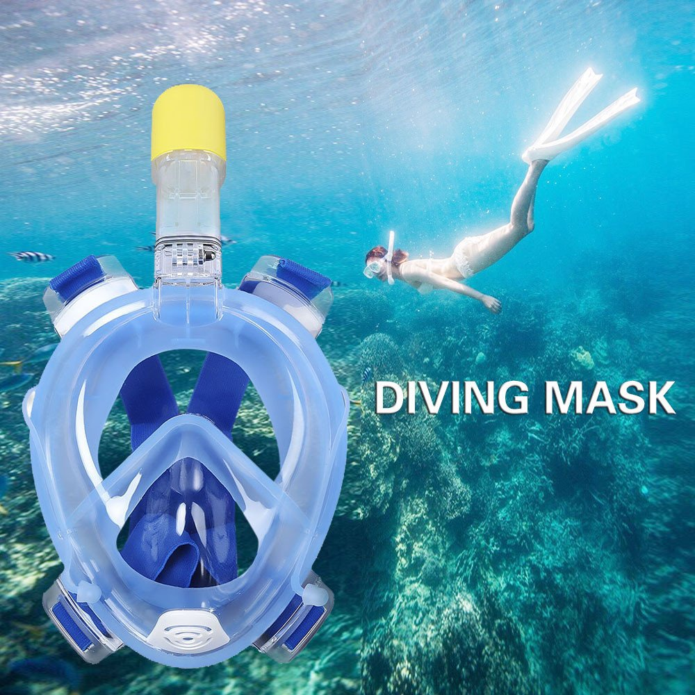 Full Face Snorkeling Mask with Go Pro Camera Mount