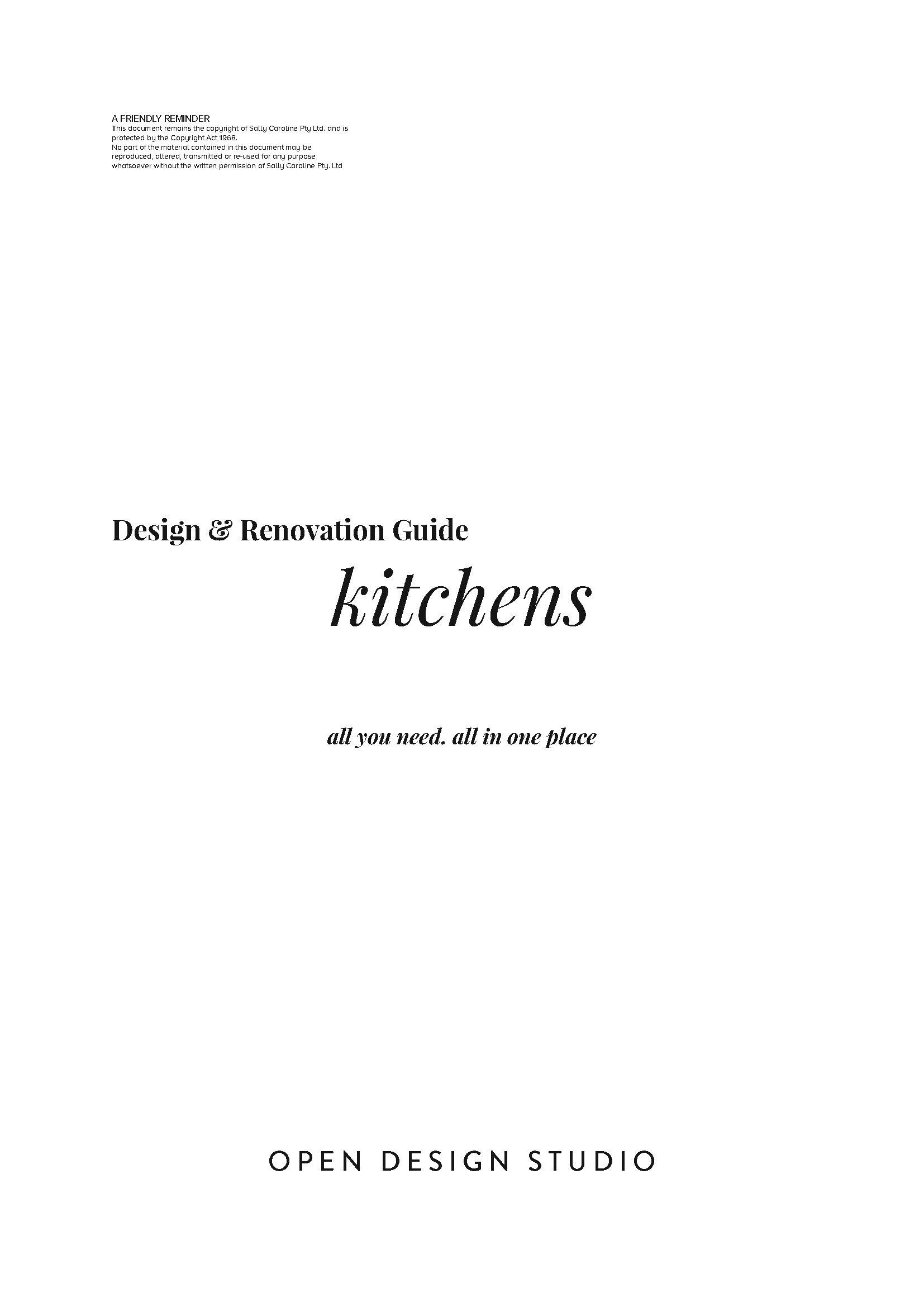 Kitchen Scheme