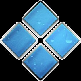 Blue tile squares icon
