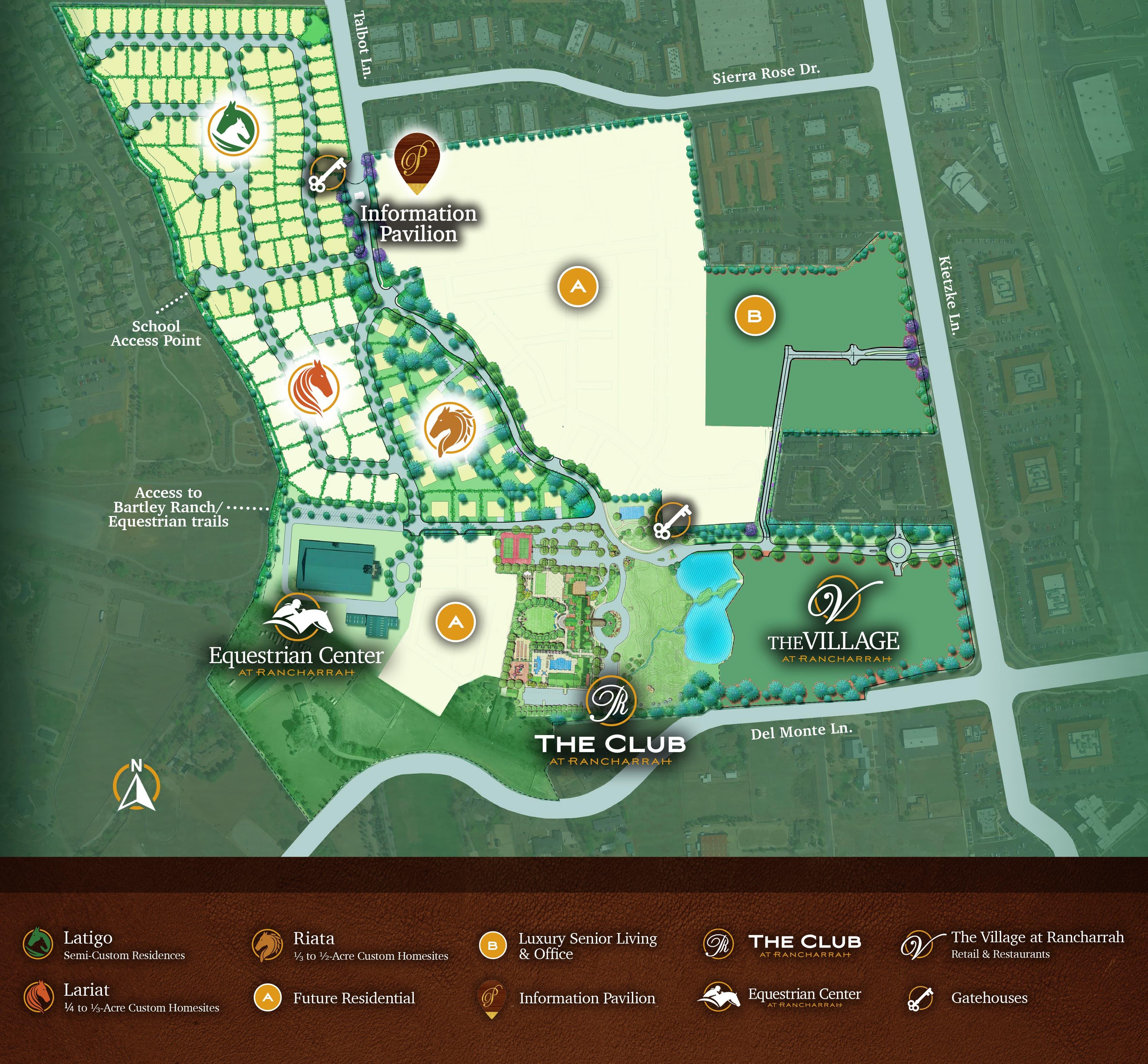 Rancharrah Site Map