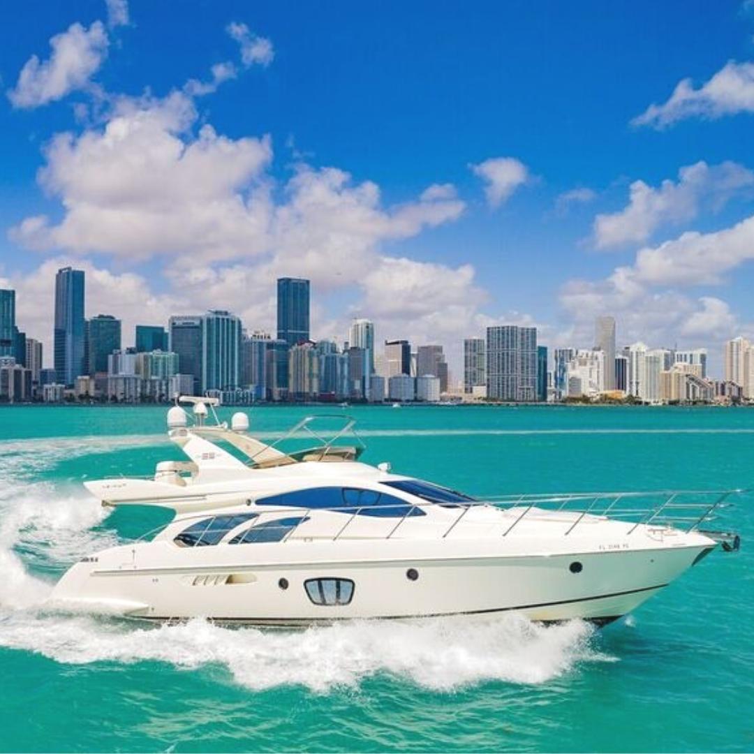 55' Azimut yacht charter party boat miami