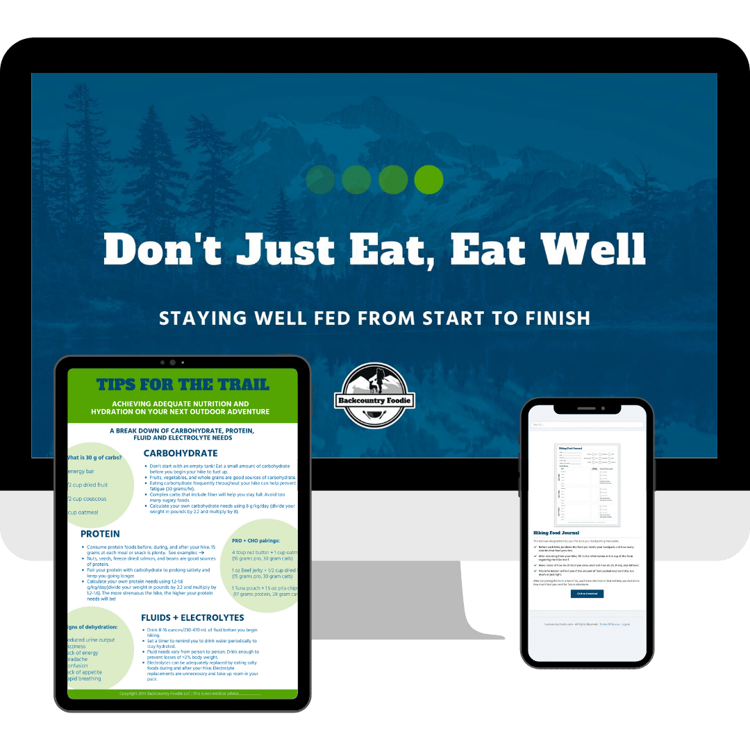 Backpacking meal planning webinar cover