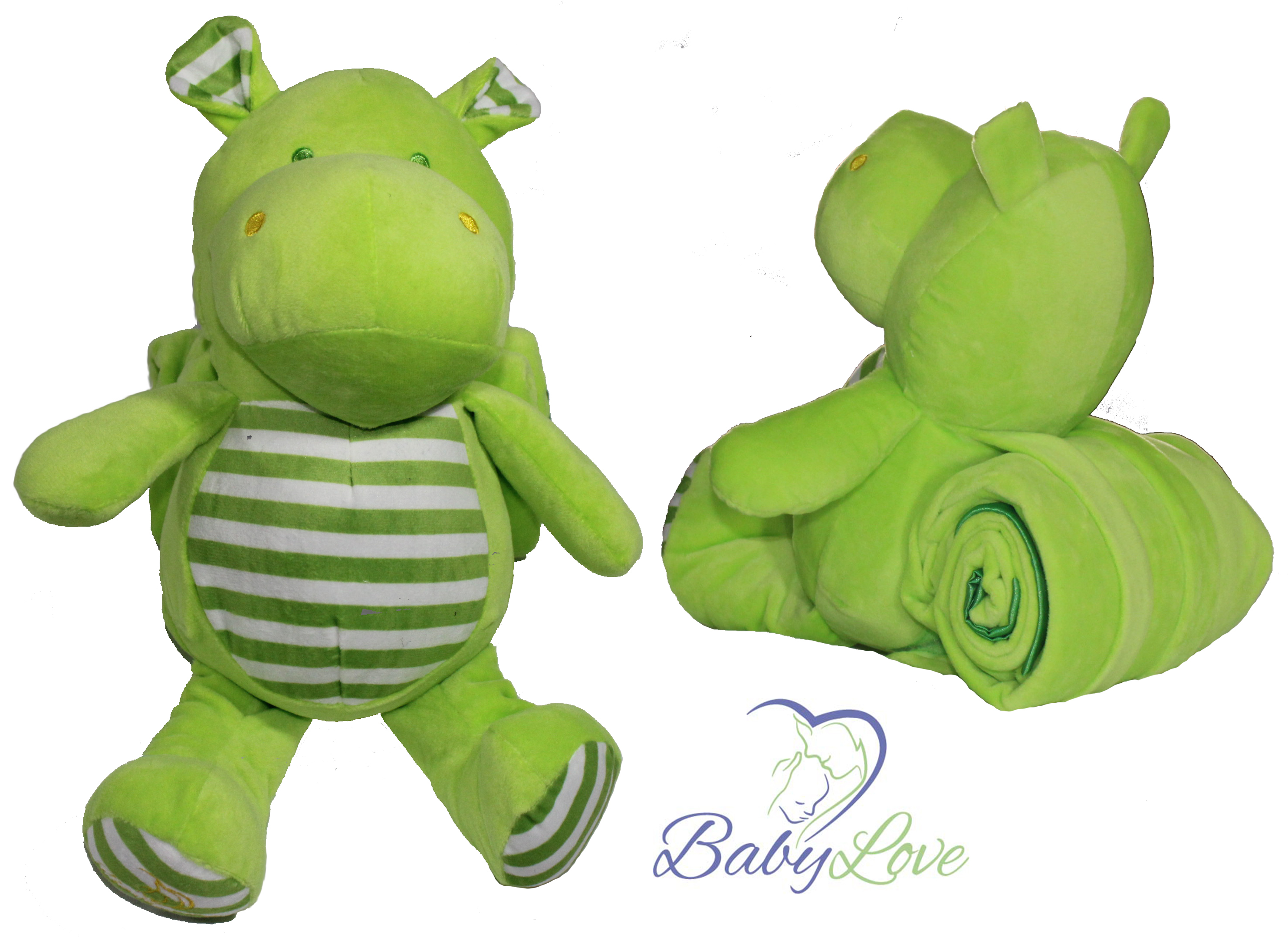 Hippo With Green Blanket