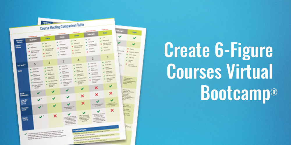 Create 6-Figure Courses Virtual Bootcamp Jeanine Blackwell