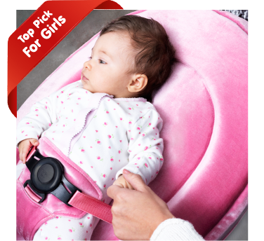Marshmallow Fluff Pink and white Snuggle Seat baby bean bag