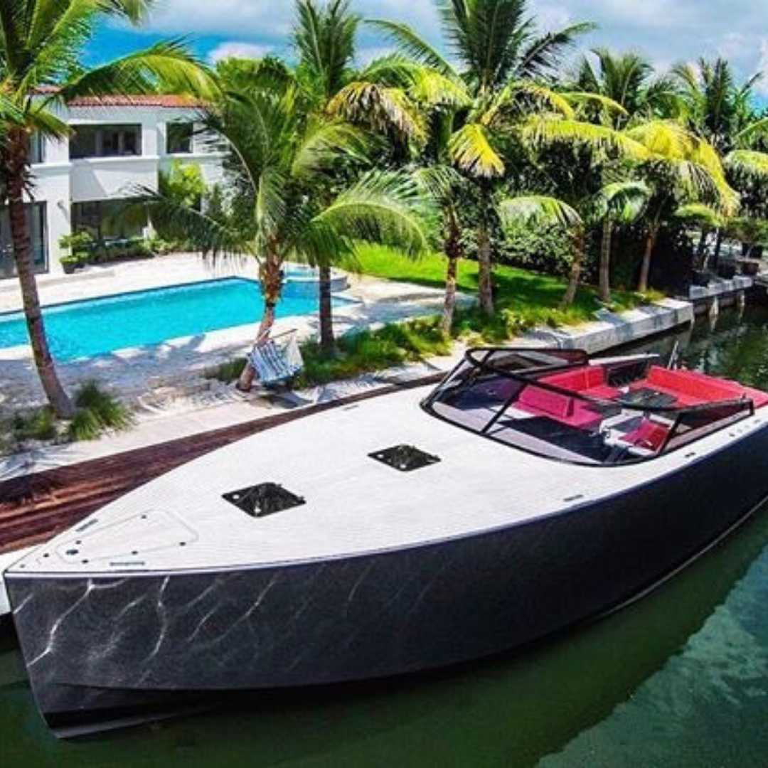 55' Vandutch super yacht charter party boat miami