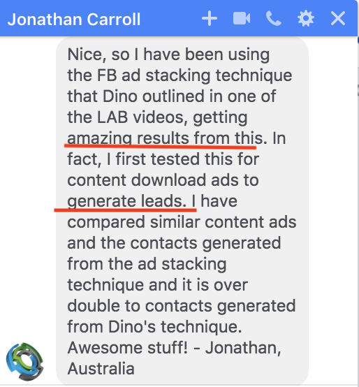 Dino Gomez FB Ads technique