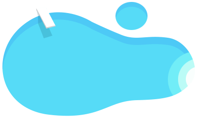 Blue pool icon with diving board