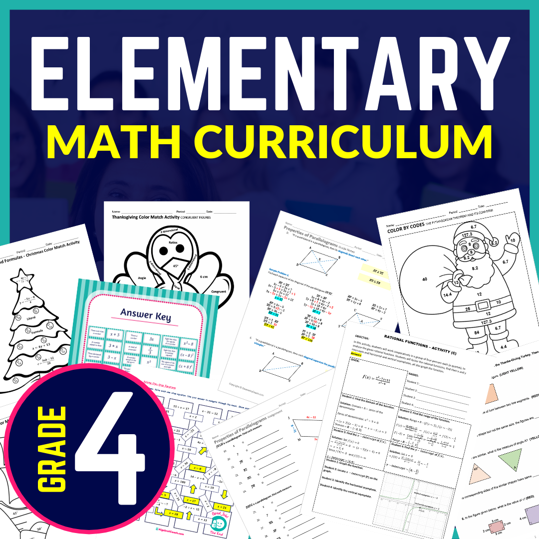 Free 4th Grade Math Activities
