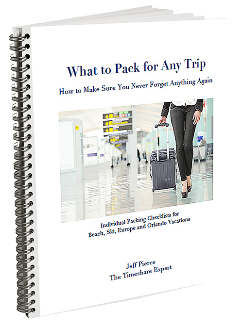 what to pack for any trip, timeshare exchange bible, bonus