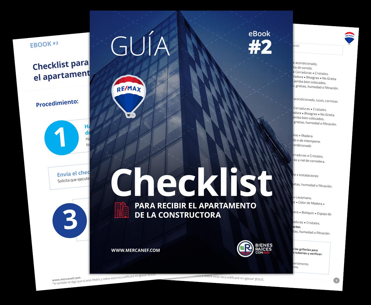 Checklist para recibir el apartamento de la constructora