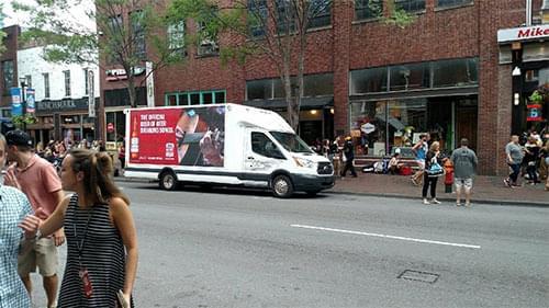 budweiser mobile LED billboard truck in nashville