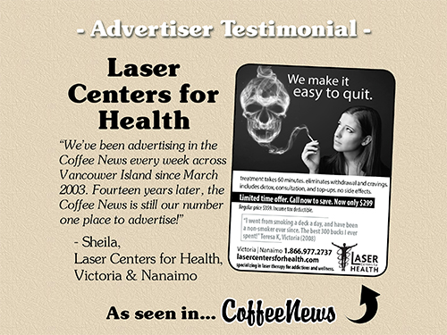 Laser Centers for Health testimonial in Coffee News