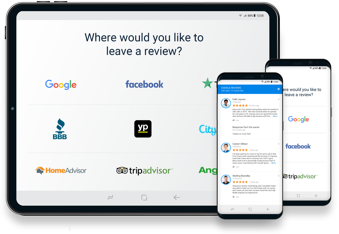 Local Reviews - Cellphone View