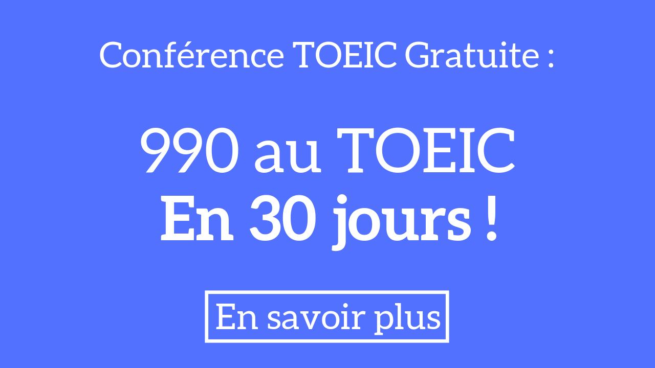 Conference TOEIC gratuite