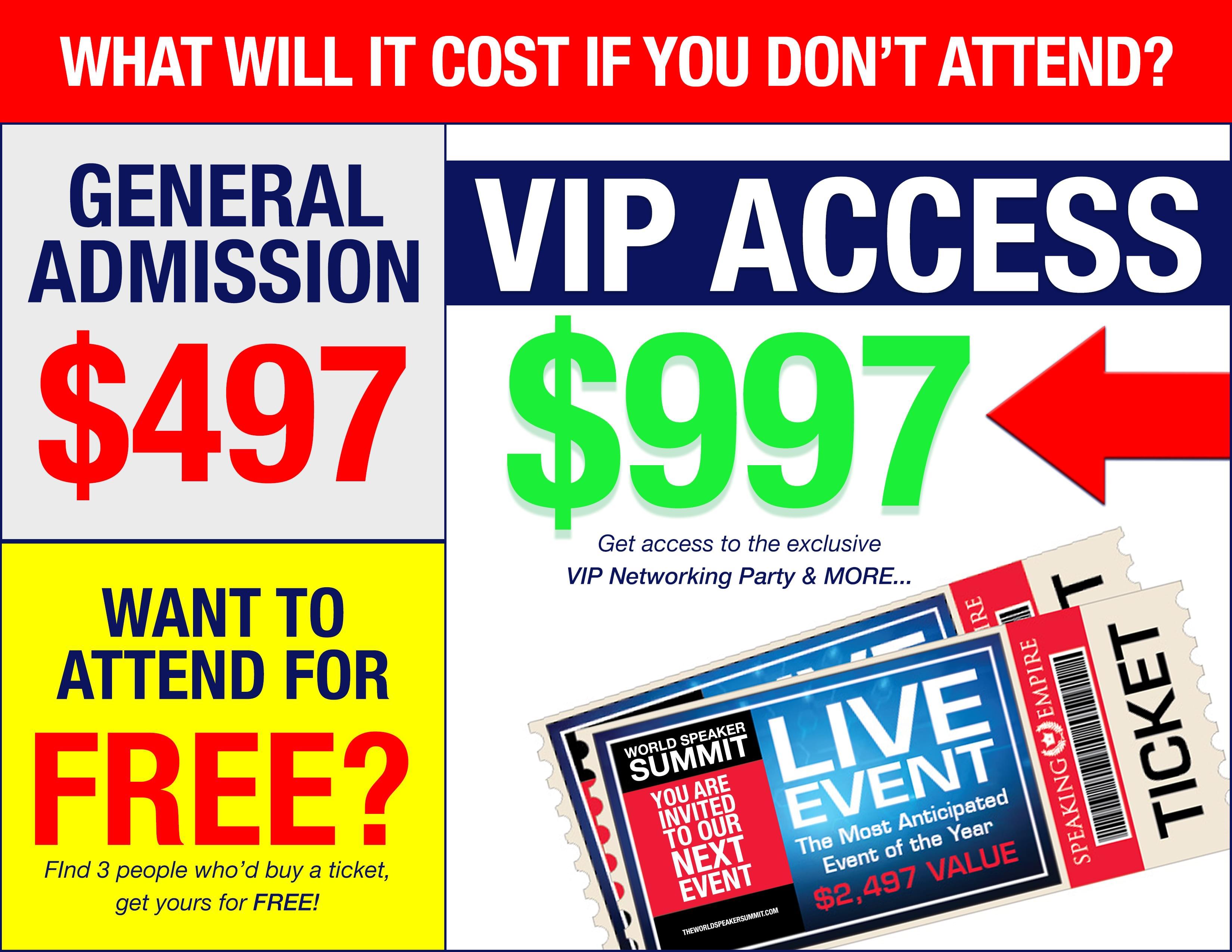 world speaker summit ticket prices