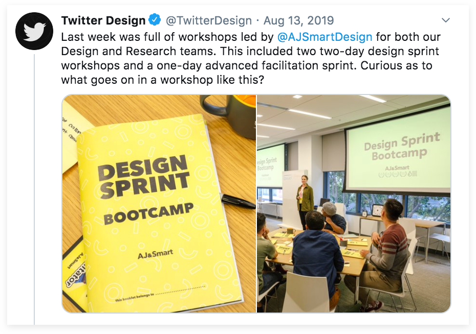Design Sprint bootcamp with Twitter