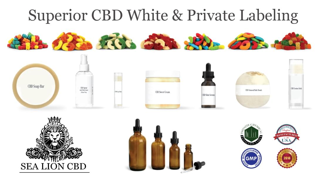Sea Lion CBD White and Private Labeling