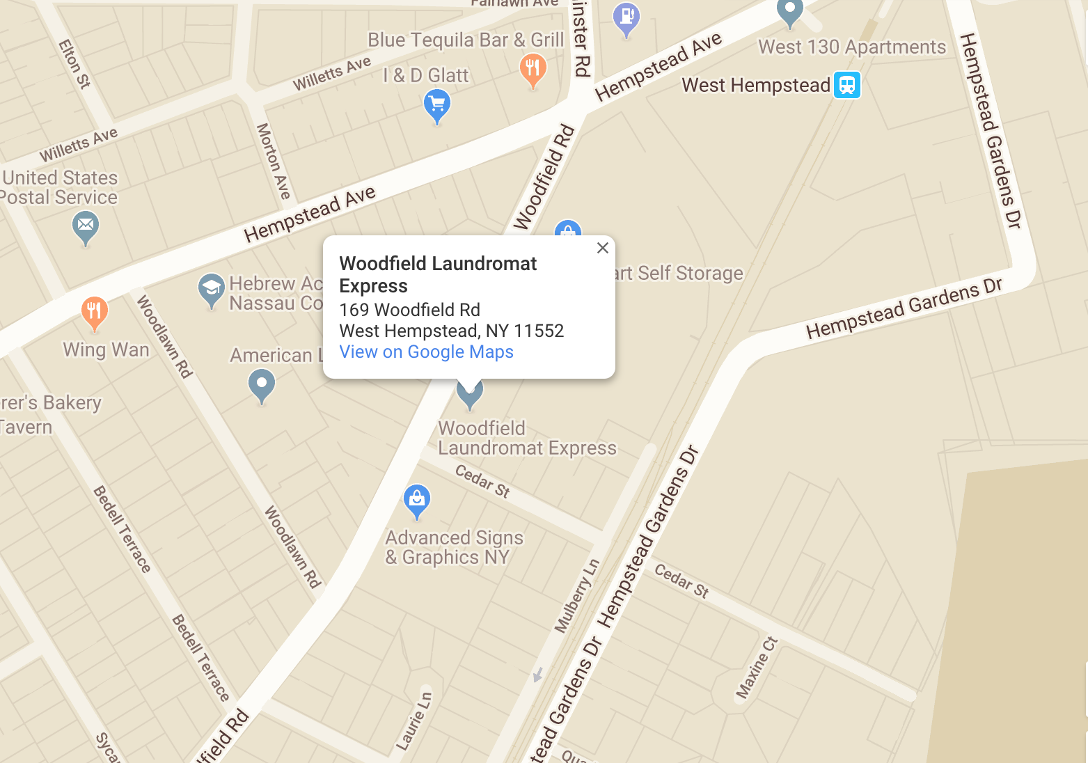 Woodfield Laundromat Express Location