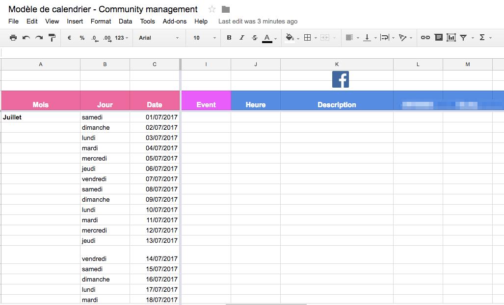 Planning réseaux sociaux