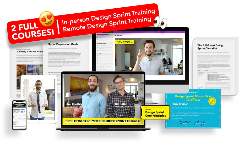 Certification and course materials for the Design Sprint Masterclass