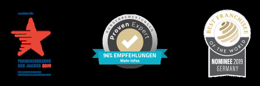 Franchisegeber des Jahres, Franchisegeber, Empfehlung, Nominee 2019 germany, Best Franchise, BEST FRANCHISE, BEST FRANCHISE OF THE WORLD, best franchise of the world