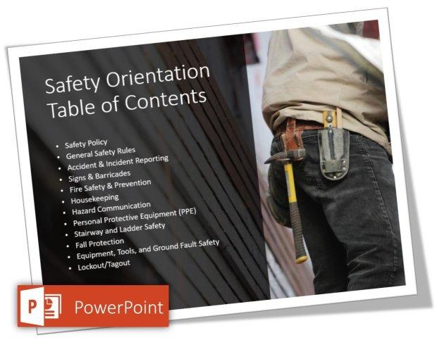 safety orientation safety presentation