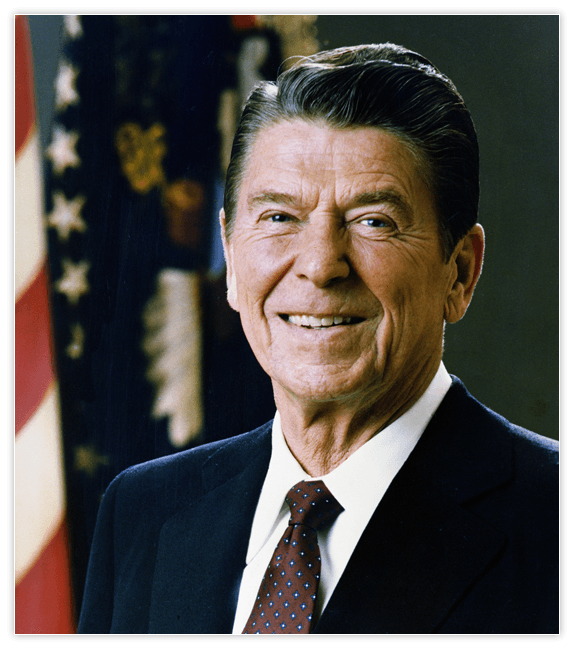 Portrait of President Ronald Reagan