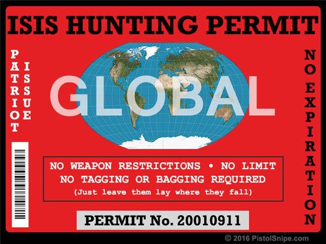 ISIS Hunting Permit Sticker