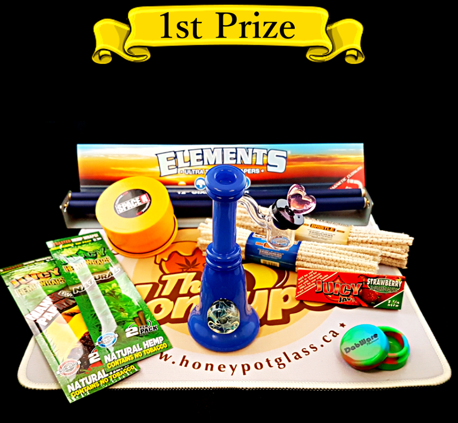 1st Prize in the Honeypot Glass Gallery 420 Giveaway