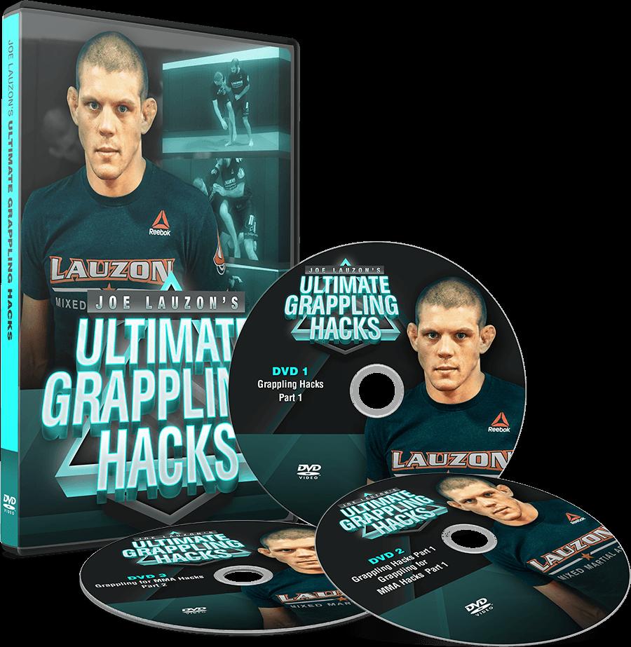 JOE LAUZON – ULTIMATE GRAPPLING HACKS Joe Lauzon DVD Mockup