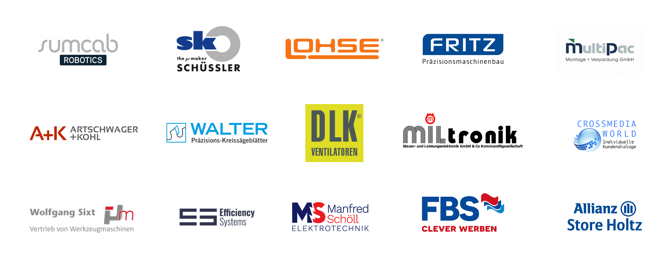 Logos von den Kunden-Referenzen von Social Media Schwaben