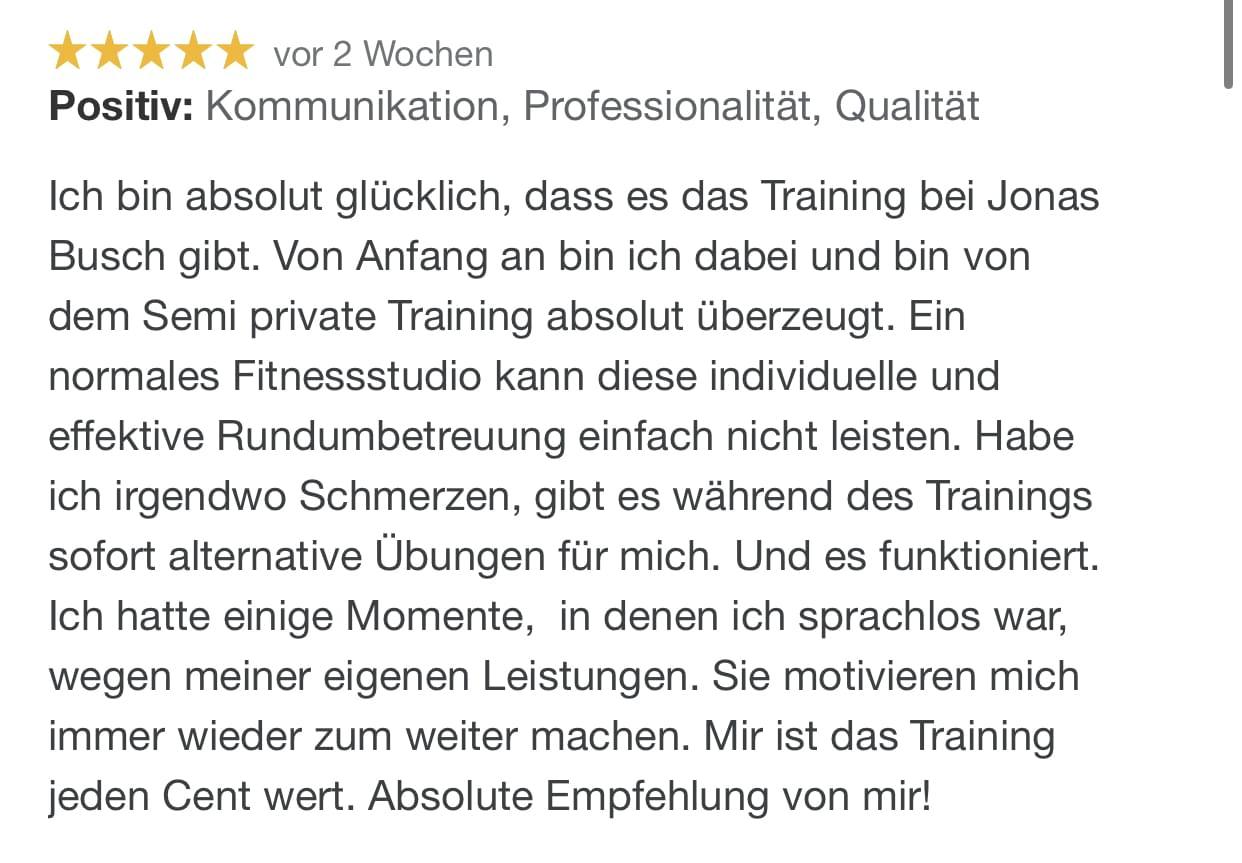 Bewertung Jonas Busch Prenzlau