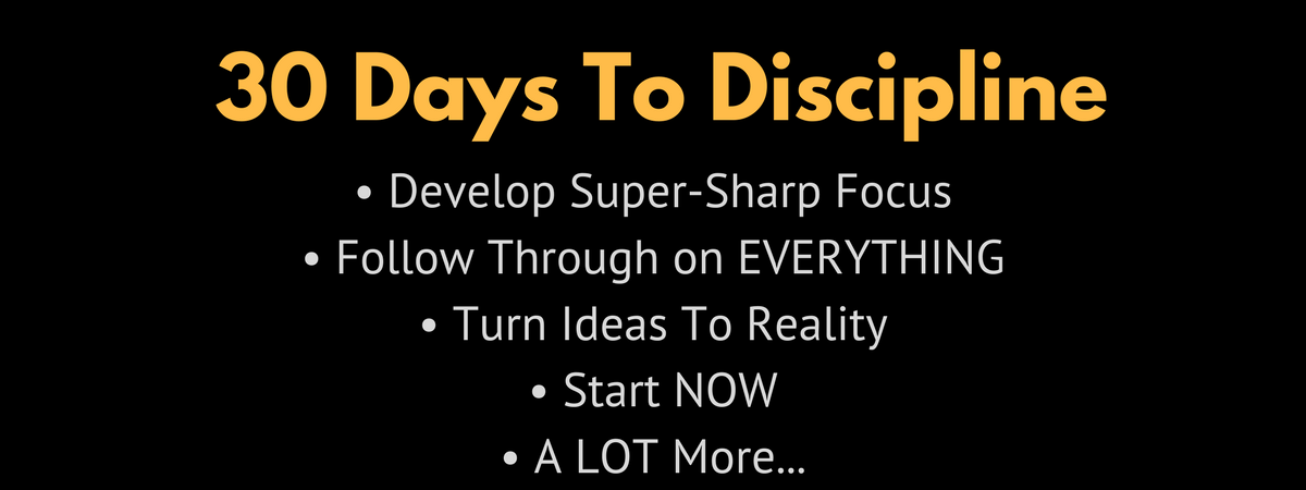 30 Days To Discipline