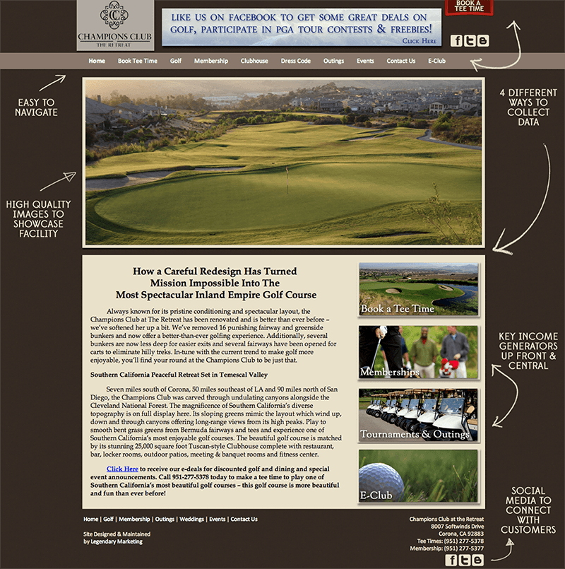 Golf Marketing Website