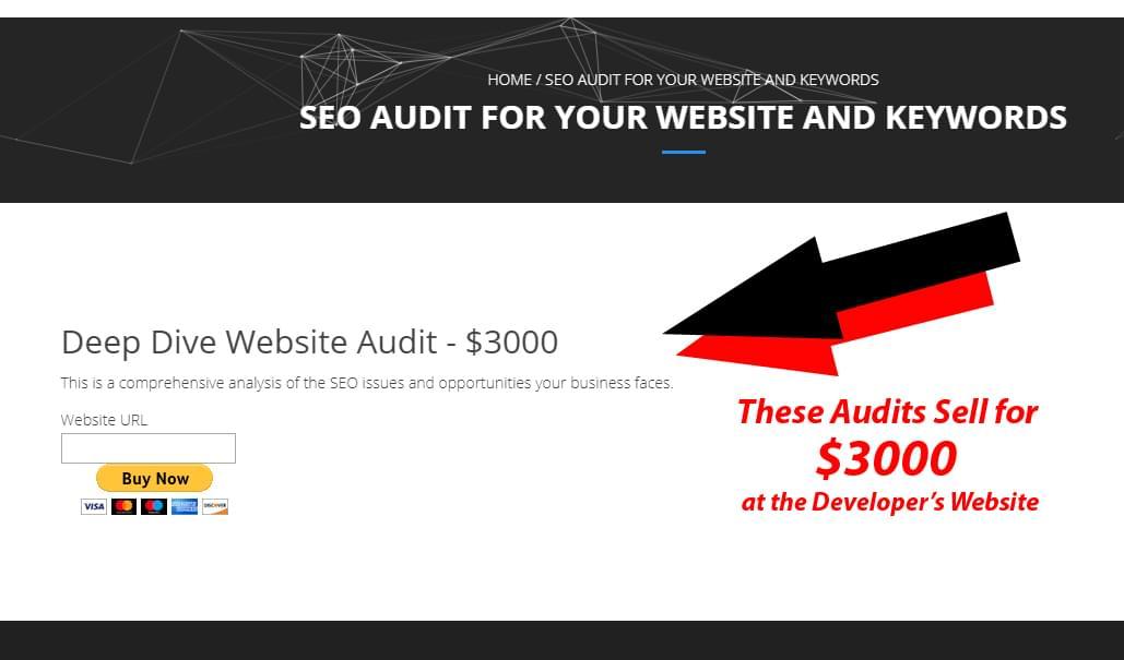 SEO Audit $3000 Elsewhere