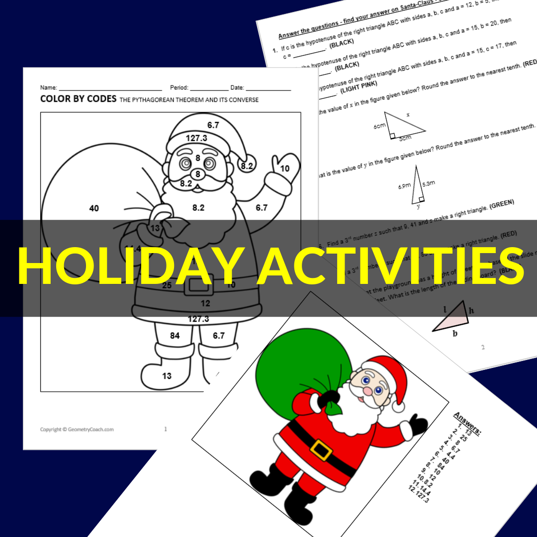 Algebra 2 Holiday Activities