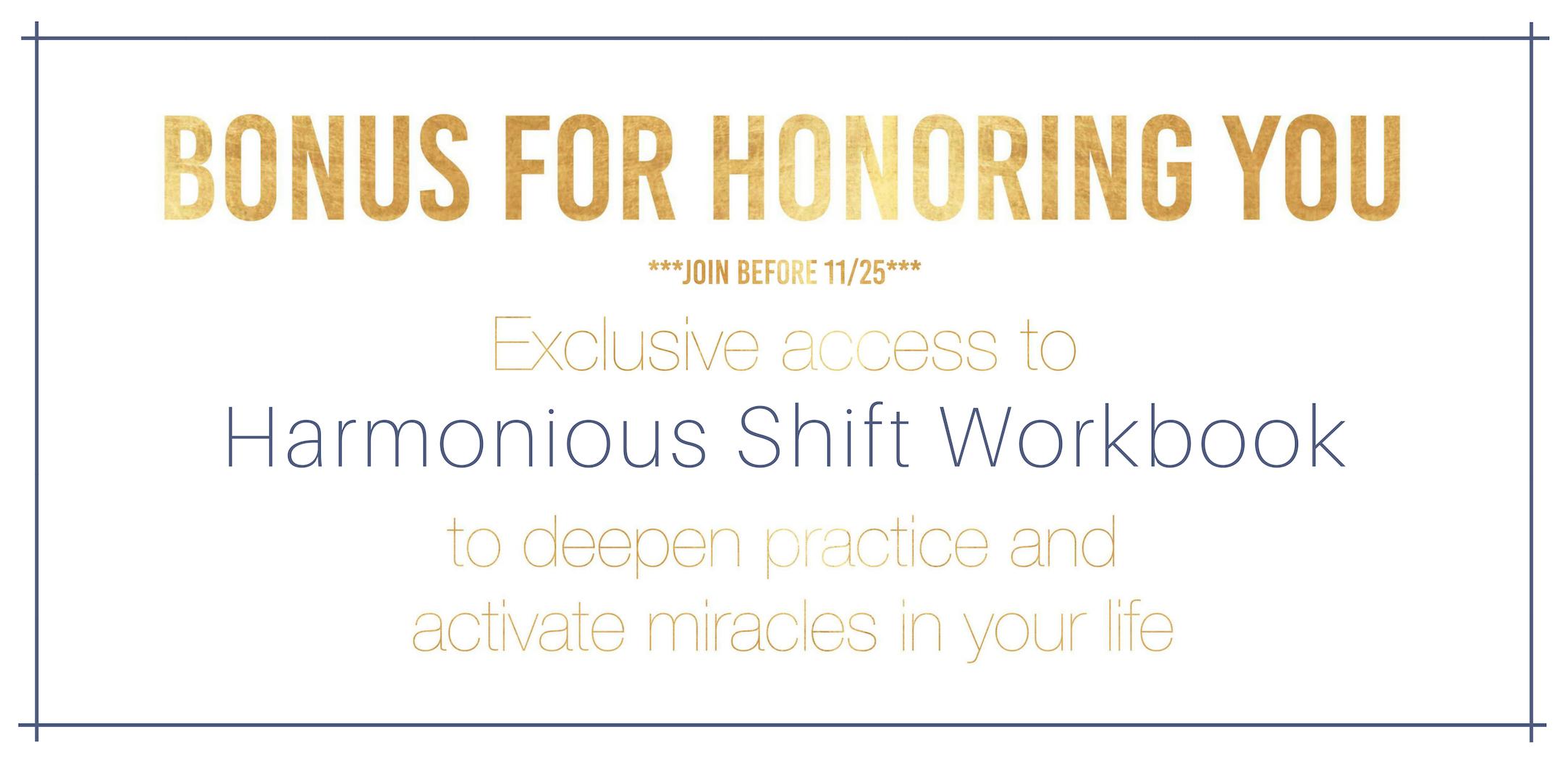 Bonus: Harmonious Shift Workbook
