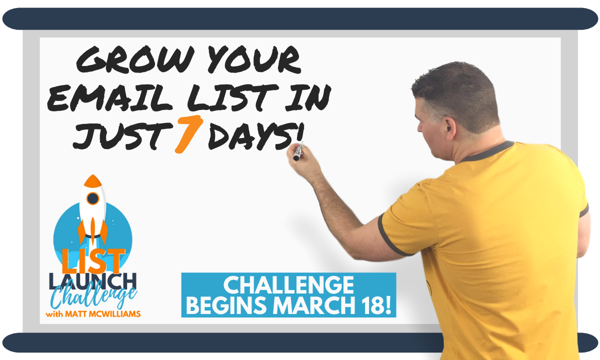 Email List Launch Challenge