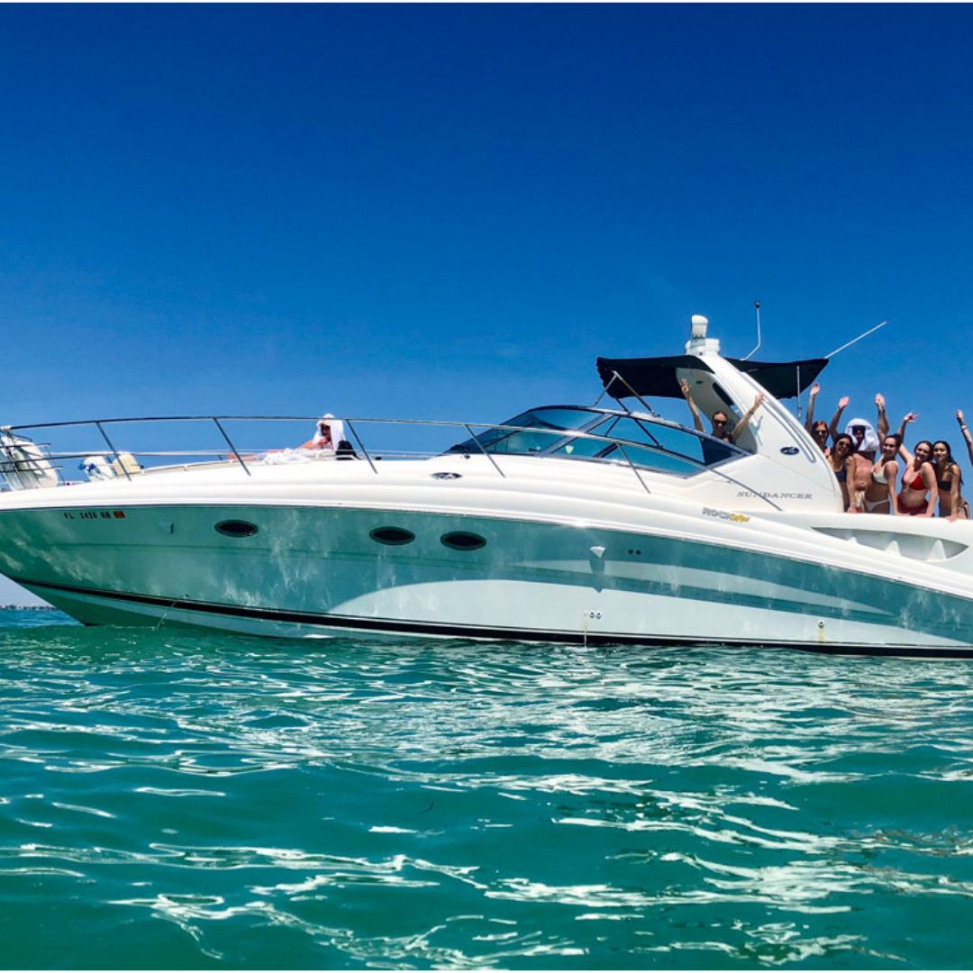 45' Sea ray yacht charter party boat